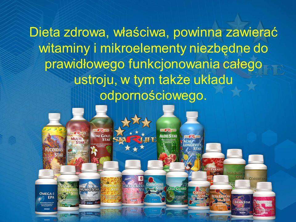 Dieta zdrowa, właściwa, powinna zawierać witaminy i mikroelementy niezbędne do prawidłowego funkcjonowania całego ustroju, w tym także układu odpornościowego.