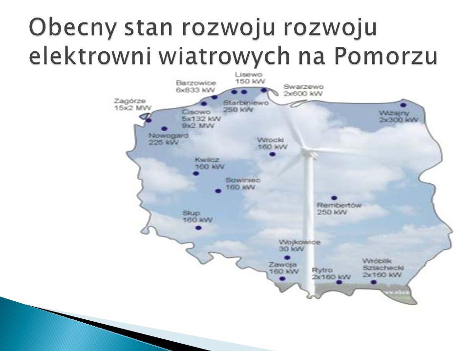 Obecny stan rozwoju rozwoju elektrowni wiatrowych na Pomorzu