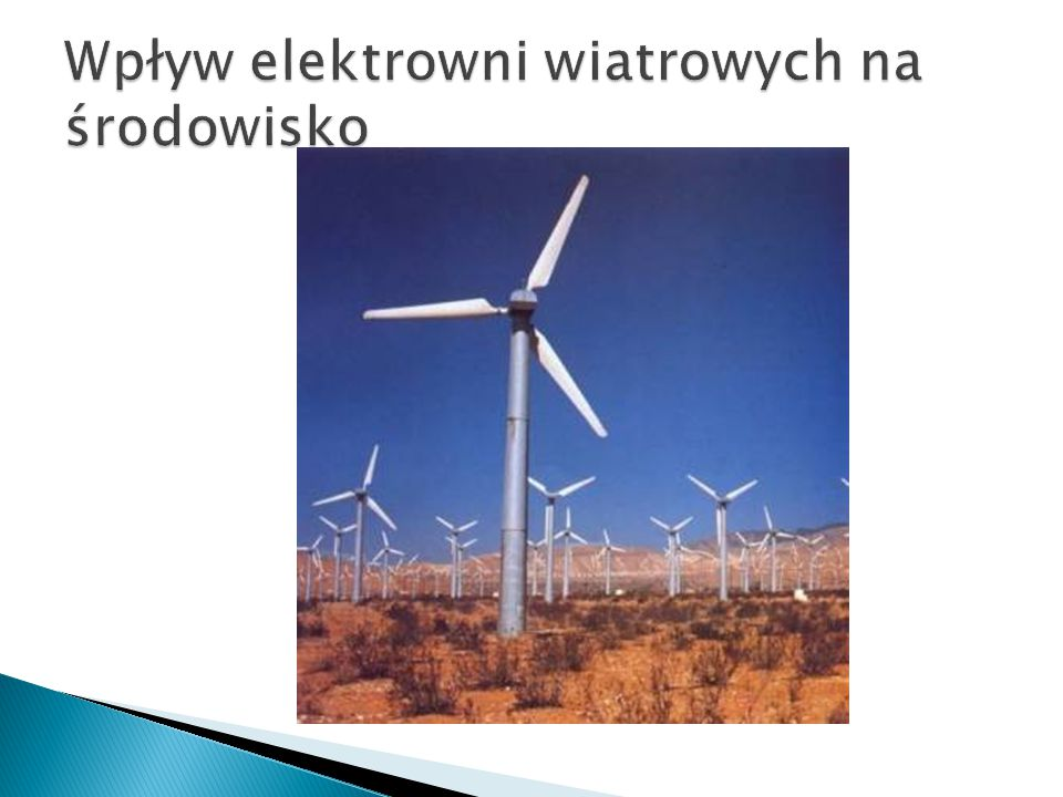 Wpływ elektrowni wiatrowych na środowisko