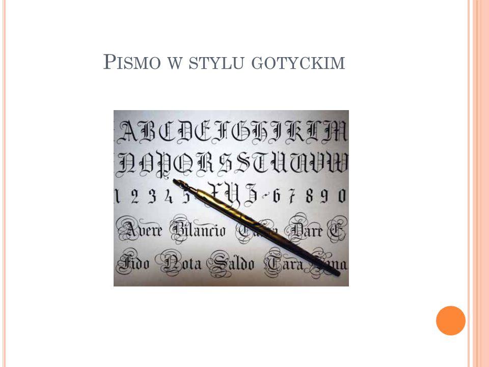 Pismo w stylu gotyckim