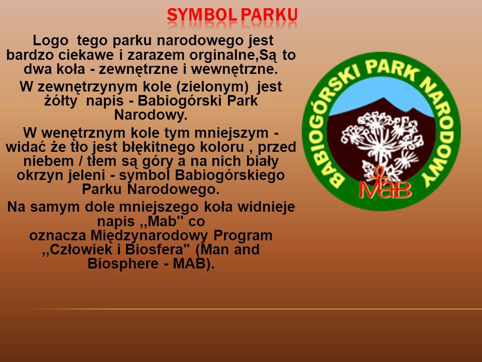 Symbol Parku Logo tego parku narodowego jest bardzo ciekawe i zarazem orginalne,Są to dwa koła - zewnętrzne i wewnętrzne.