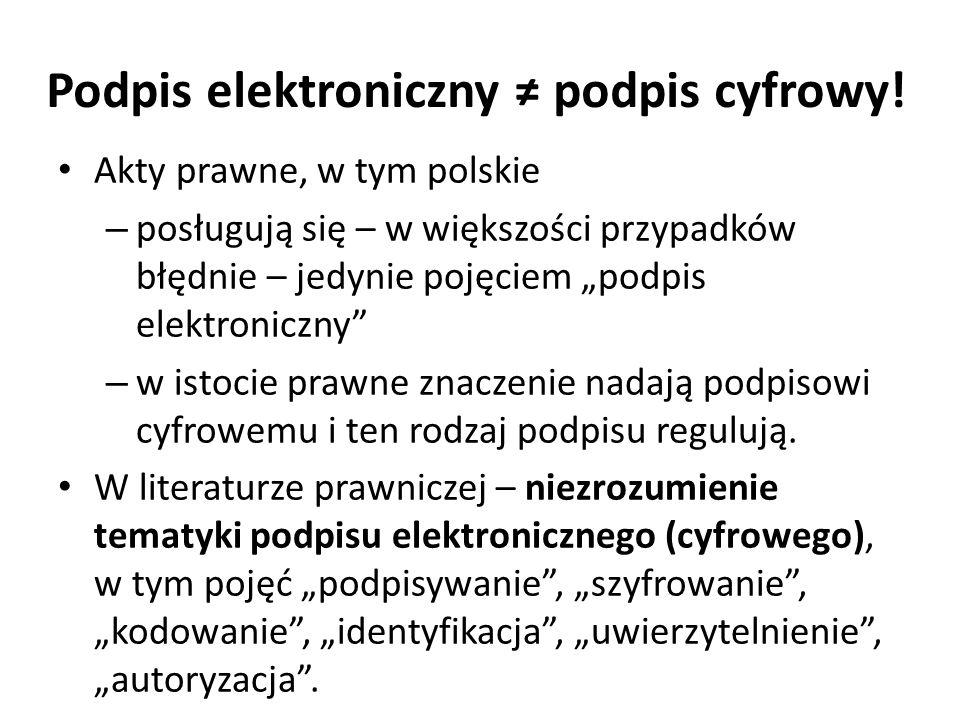 Podpis elektroniczny ≠ podpis cyfrowy!