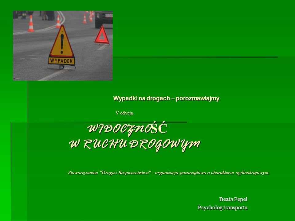 Beata Pepel Psycholog transportu