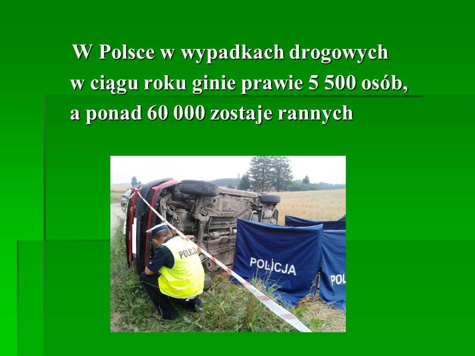 W Polsce w wypadkach drogowych