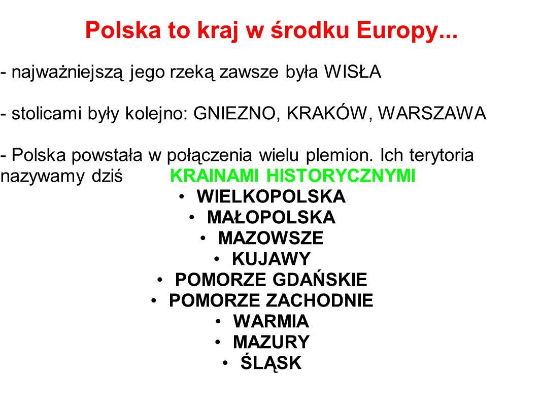Polska to kraj w środku Europy...