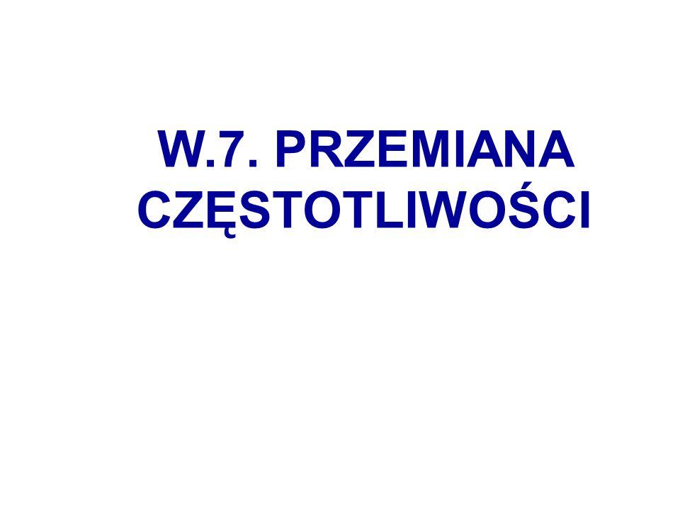 W.7. PRZEMIANA CZĘSTOTLIWOŚCI