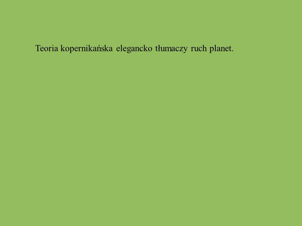Teoria kopernikańska elegancko tłumaczy ruch planet.