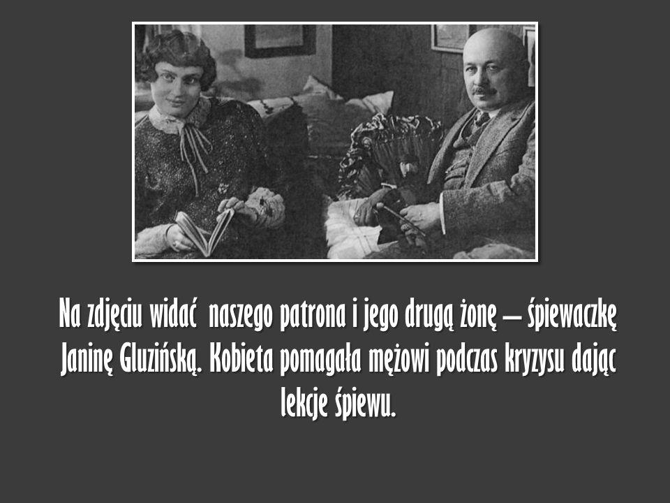 Na zdjęciu widać naszego patrona i jego drugą żonę – śpiewaczkę Janinę Gluzińską.