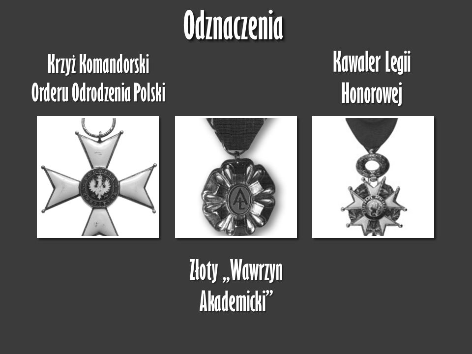 """Odznaczenia Kawaler Legii Honorowej Złoty """"Wawrzyn Akademicki"""