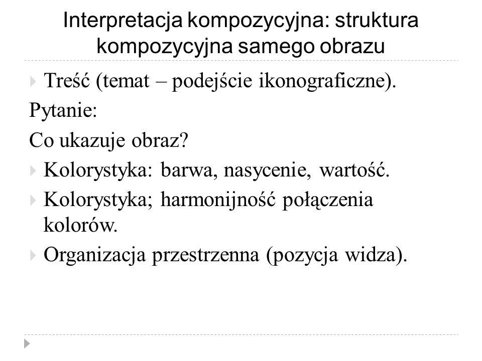 Interpretacja kompozycyjna: struktura kompozycyjna samego obrazu