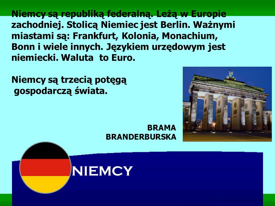 Niemcy są republiką federalną. Leżą w Europie zachodniej