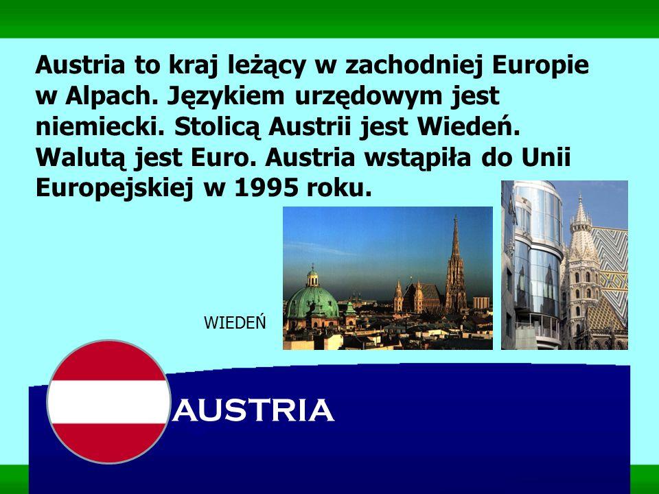 Austria to kraj leżący w zachodniej Europie w Alpach