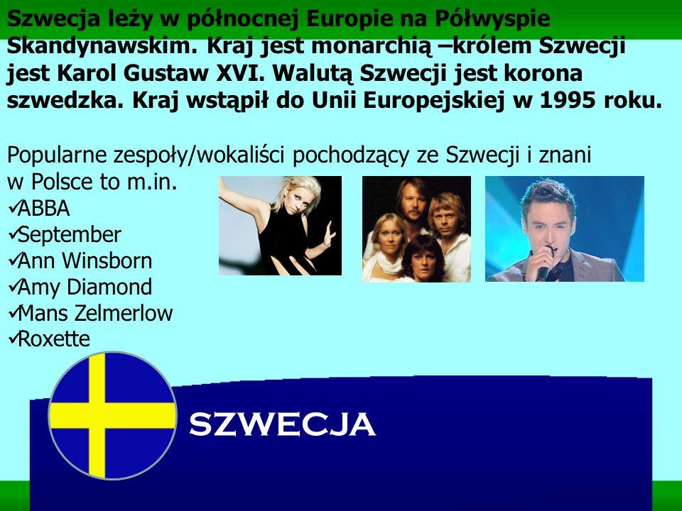 Szwecja leży w północnej Europie na Półwyspie Skandynawskim
