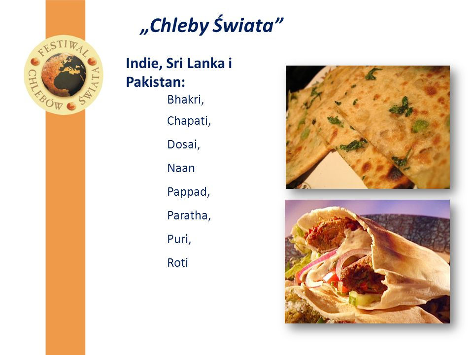 """Chleby Świata Indie, Sri Lanka i Pakistan: Bhakri, Chapati, Dosai,"