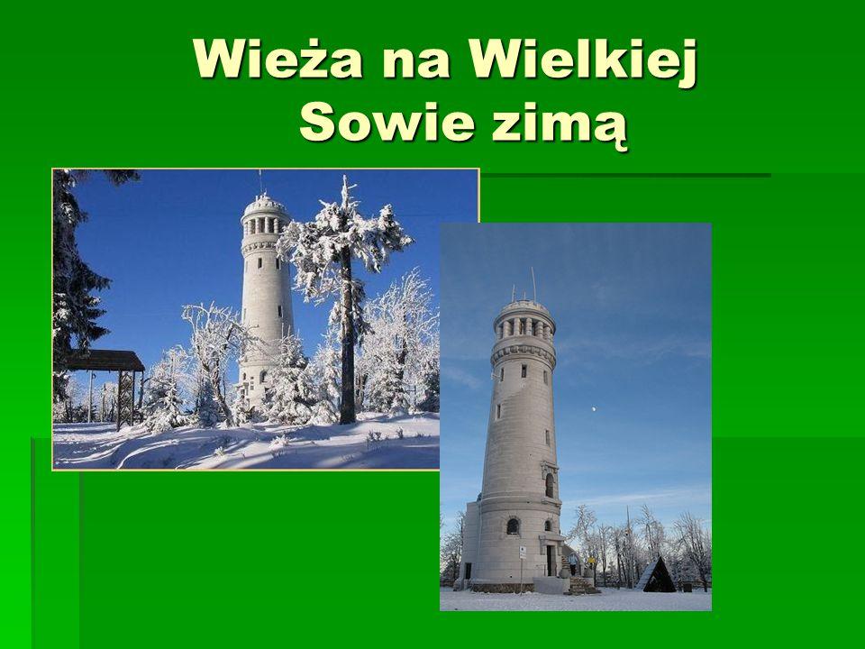 Wieża na Wielkiej Sowie zimą