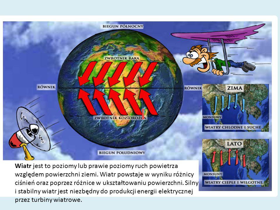 Wiatr jest to poziomy lub prawie poziomy ruch powietrza względem powierzchni ziemi.