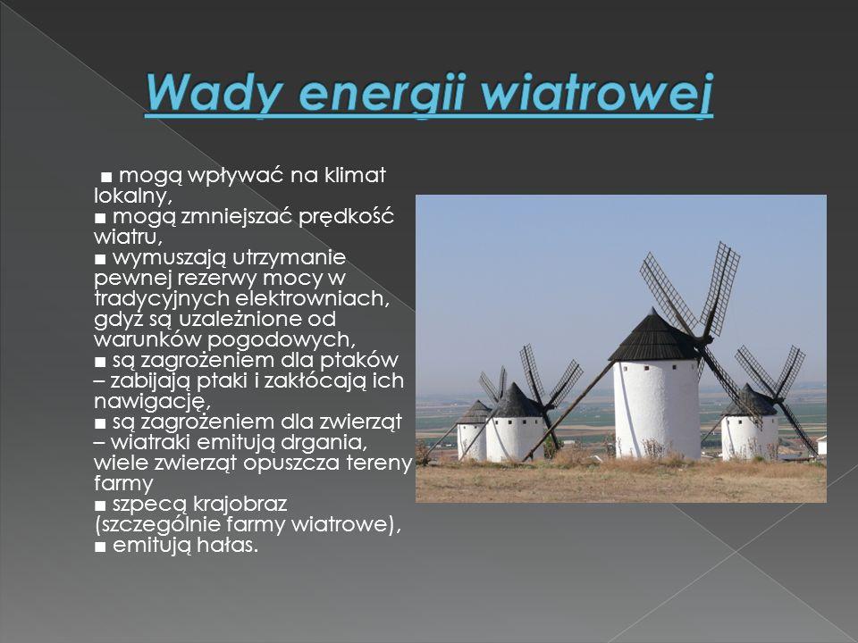 Wady energii wiatrowej