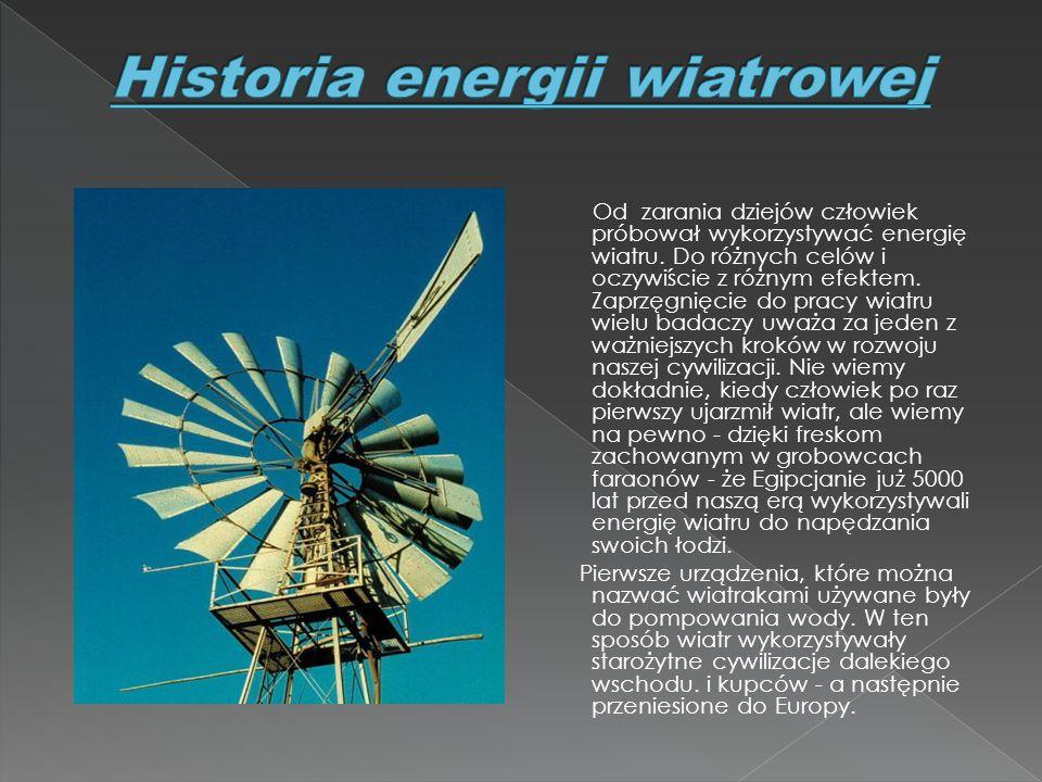 Historia energii wiatrowej