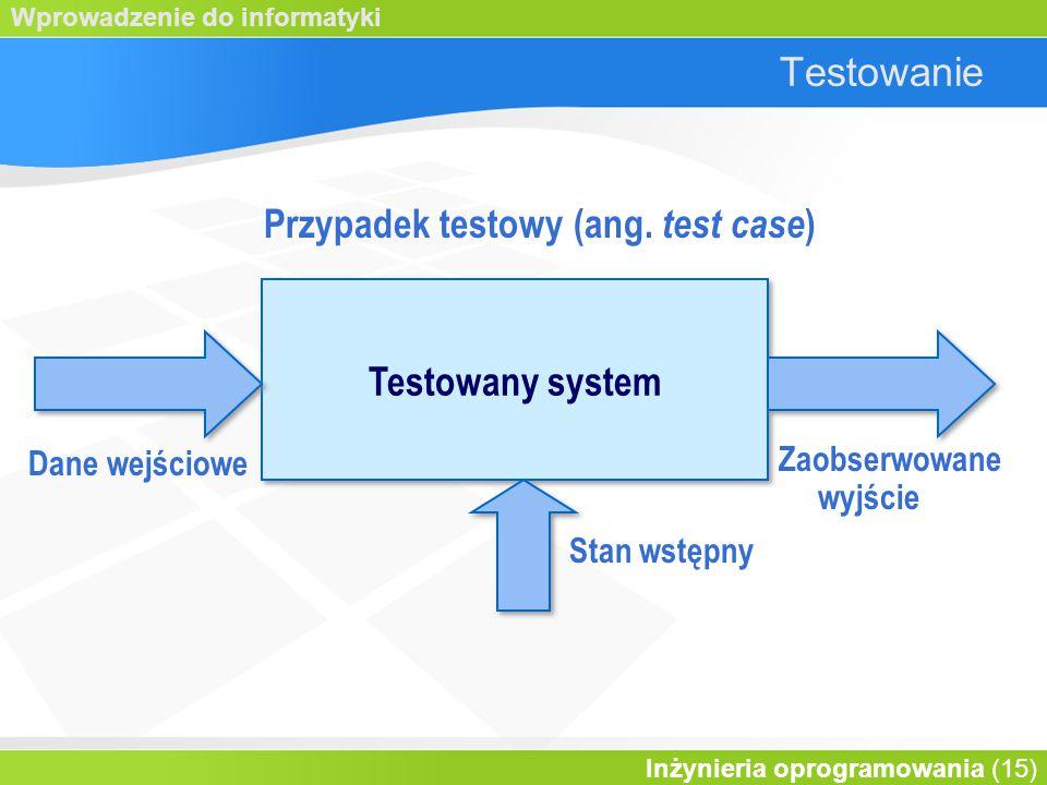 Przypadek testowy (ang. test case)