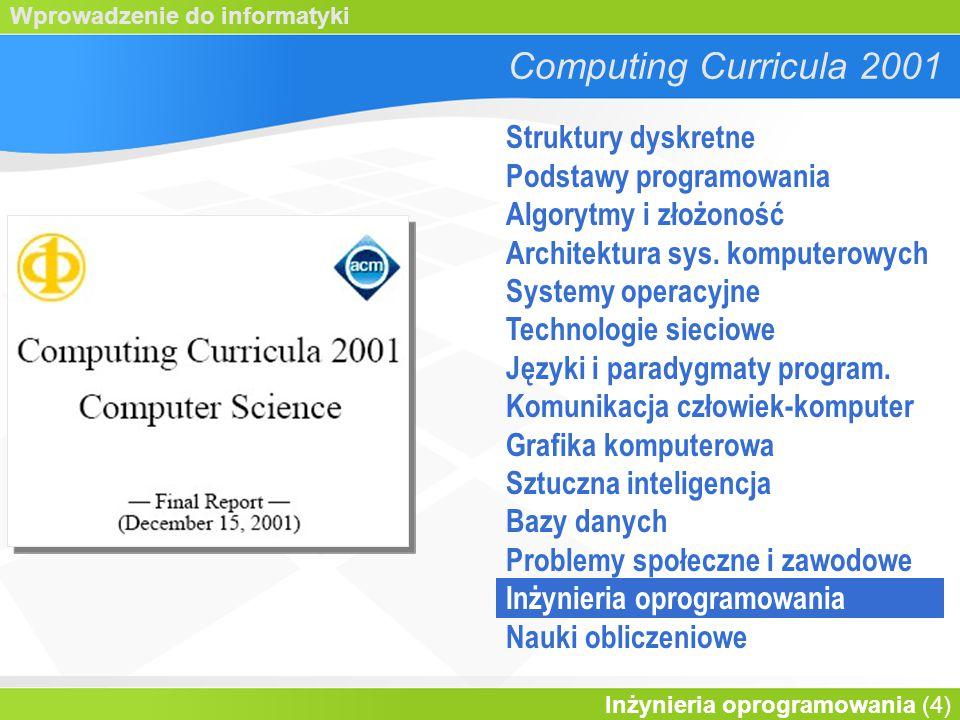 Computing Curricula 2001 Struktury dyskretne Podstawy programowania