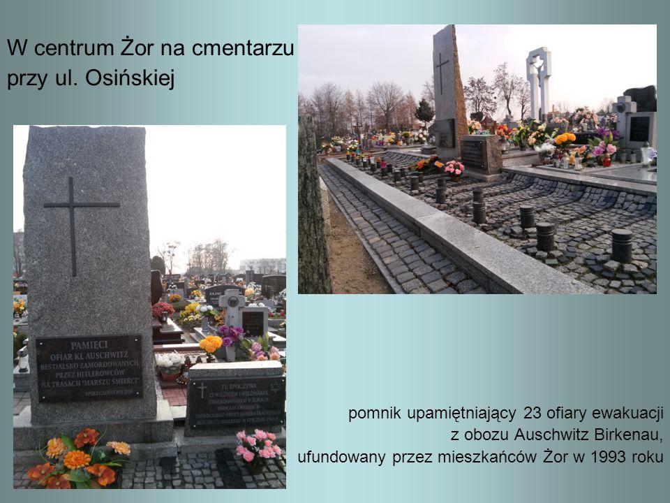 W centrum Żor na cmentarzu przy ul. Osińskiej