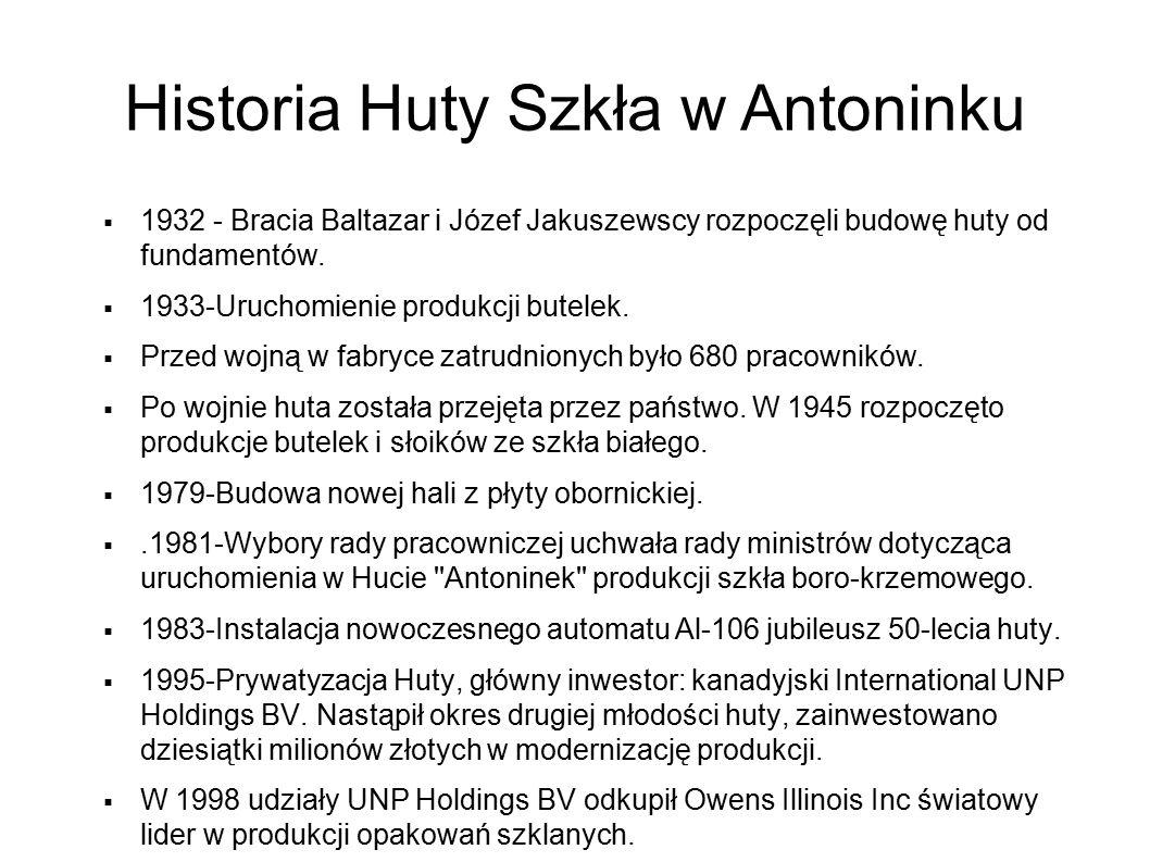 Historia Huty Szkła w Antoninku
