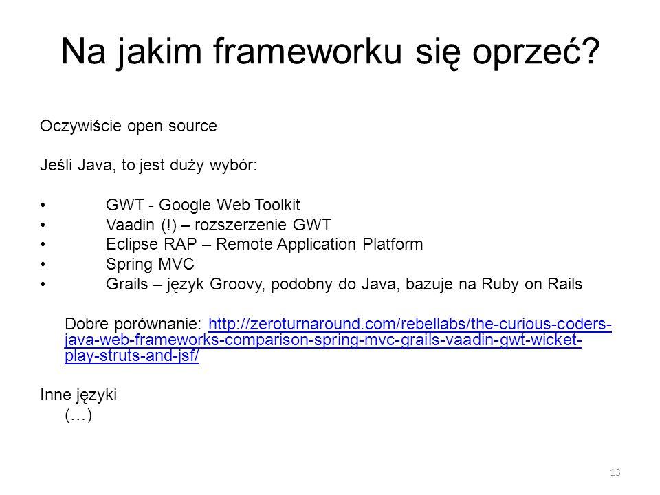 Na jakim frameworku się oprzeć