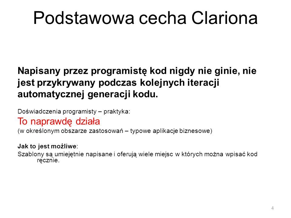 Podstawowa cecha Clariona