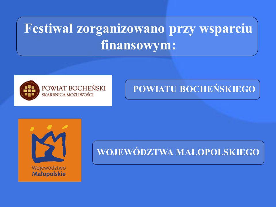 Festiwal zorganizowano przy wsparciu finansowym: