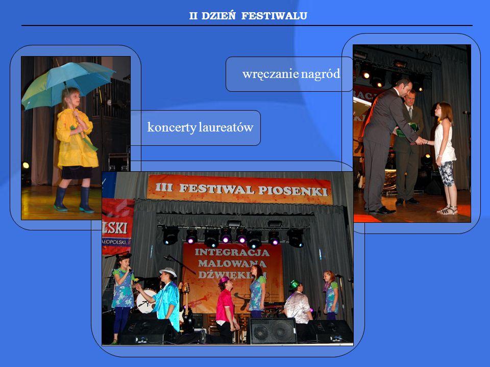 II DZIEŃ FESTIWALU wręczanie nagród koncerty laureatów