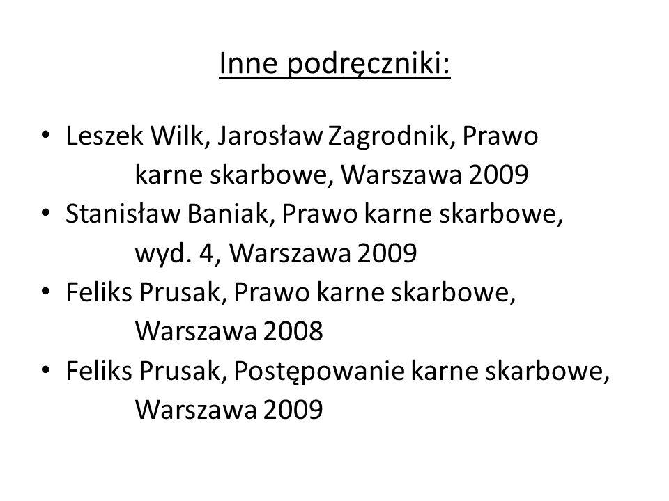 Inne podręczniki: Leszek Wilk, Jarosław Zagrodnik, Prawo