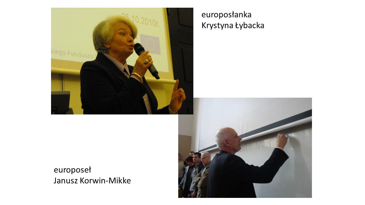 europosłanka Krystyna Łybacka europoseł Janusz Korwin-Mikke