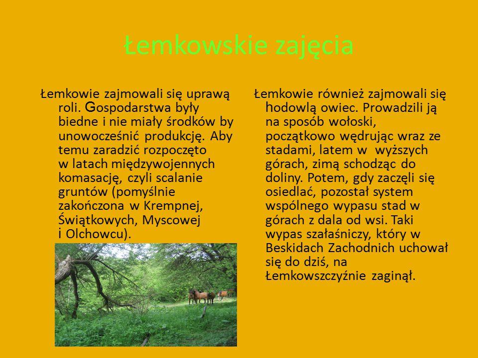 Łemkowskie zajęcia