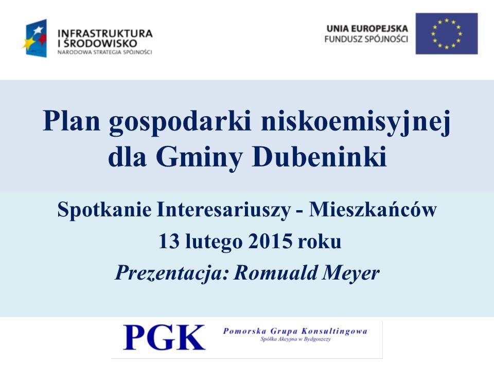 Plan gospodarki niskoemisyjnej dla Gminy Dubeninki