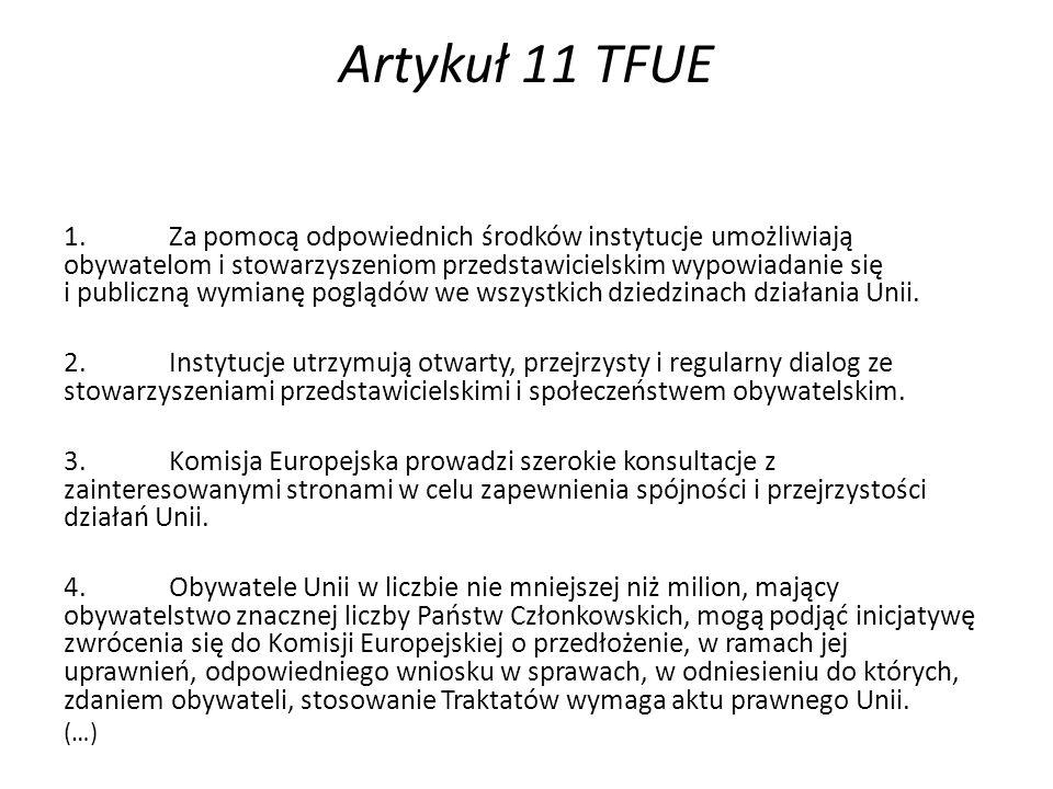 Artykuł 11 TFUE