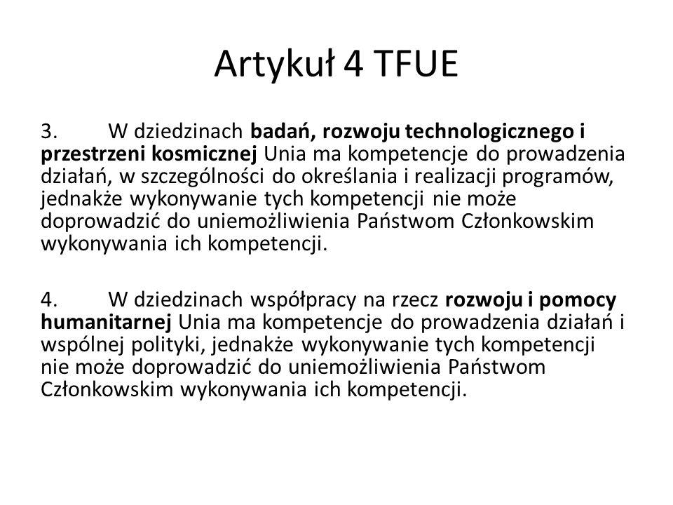 Artykuł 4 TFUE