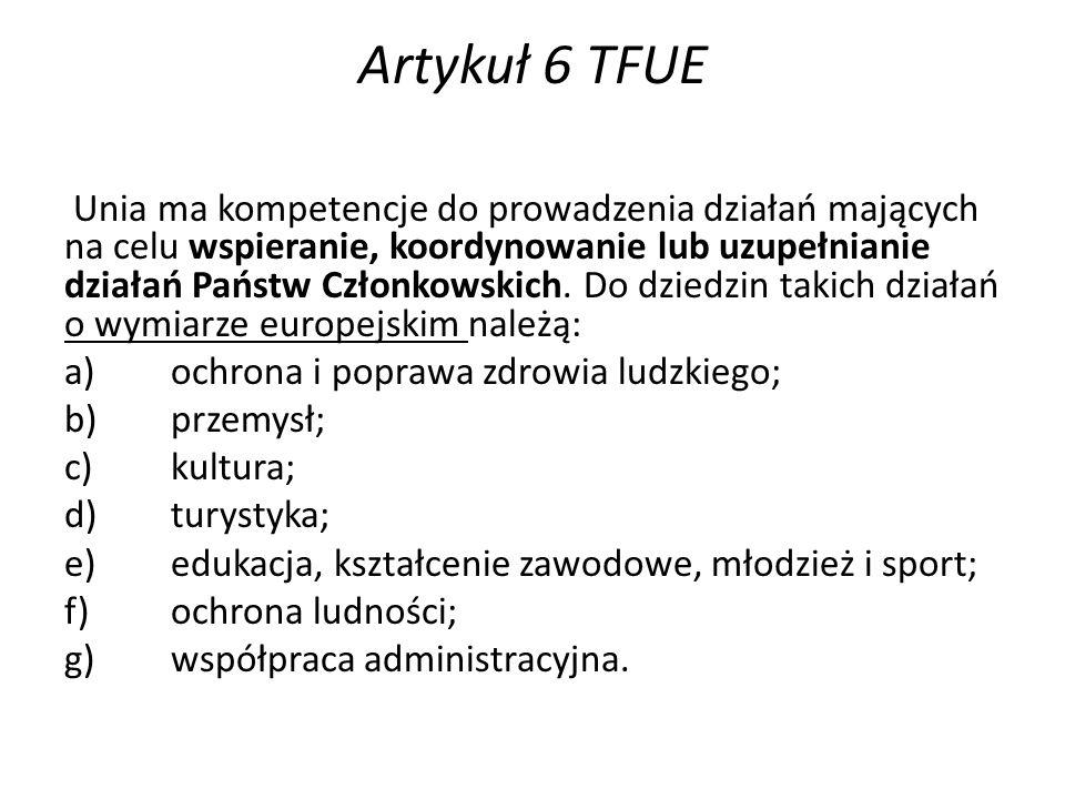 Artykuł 6 TFUE