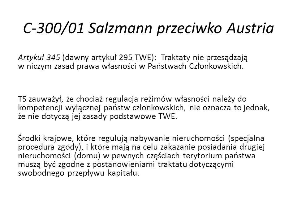 C-300/01 Salzmann przeciwko Austria