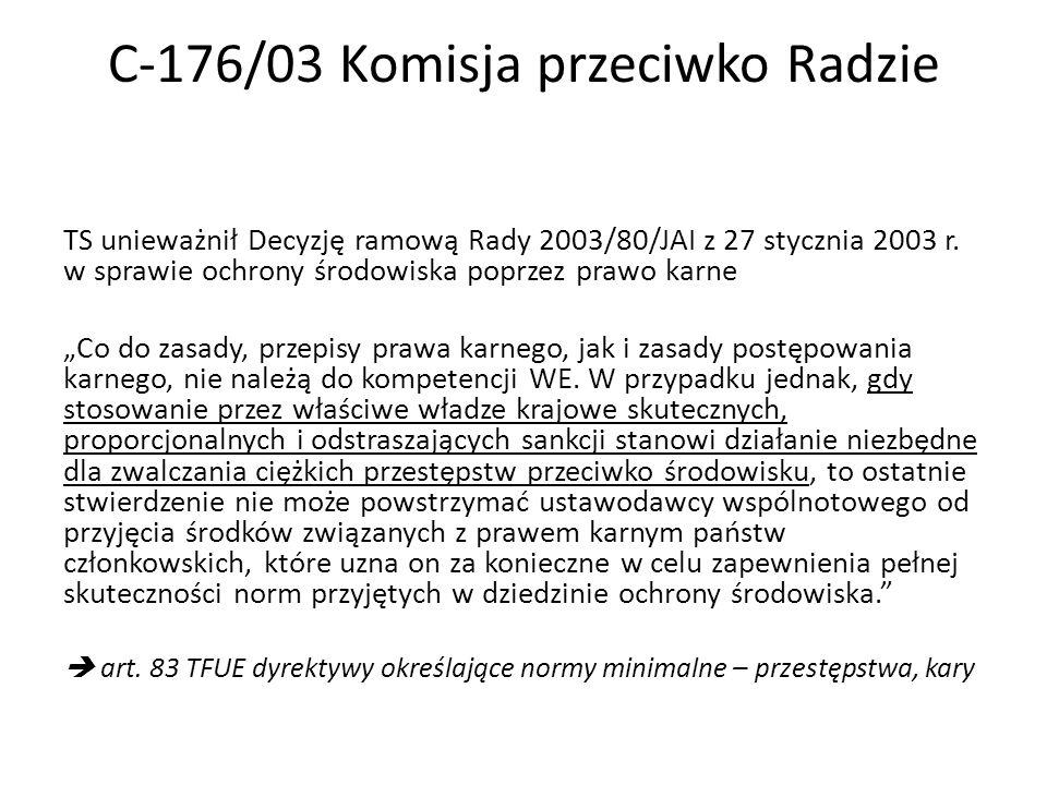 C-176/03 Komisja przeciwko Radzie