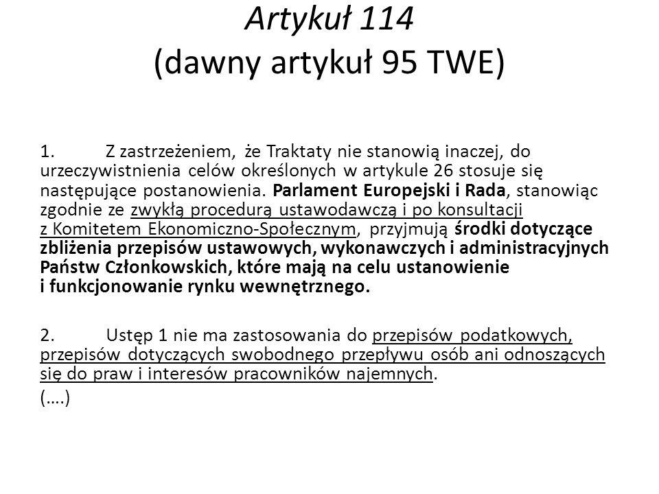 Artykuł 114 (dawny artykuł 95 TWE)