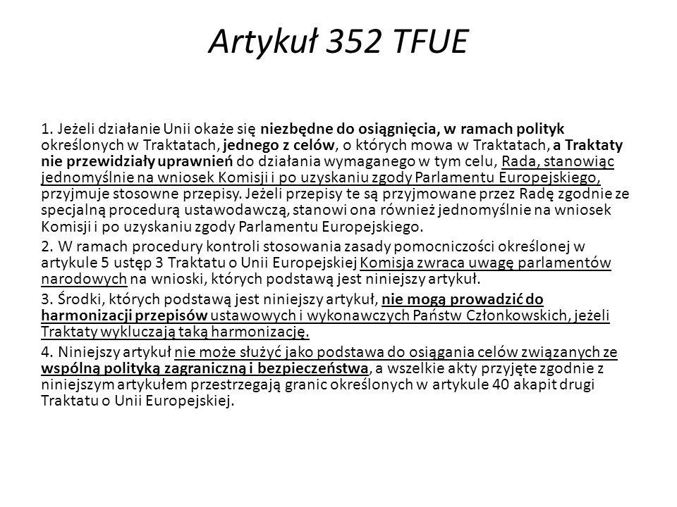 Artykuł 352 TFUE