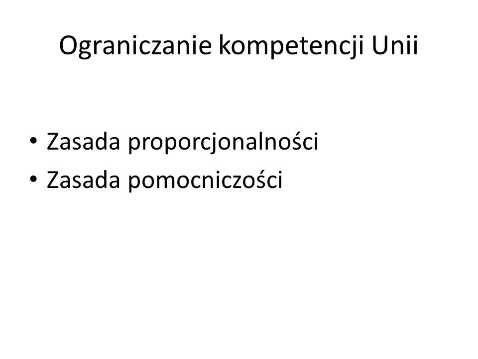 Ograniczanie kompetencji Unii
