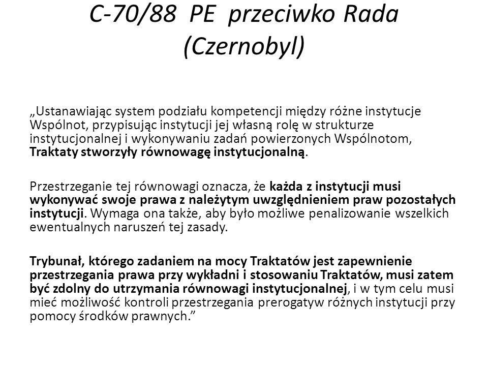C-70/88 PE przeciwko Rada (Czernobyl)