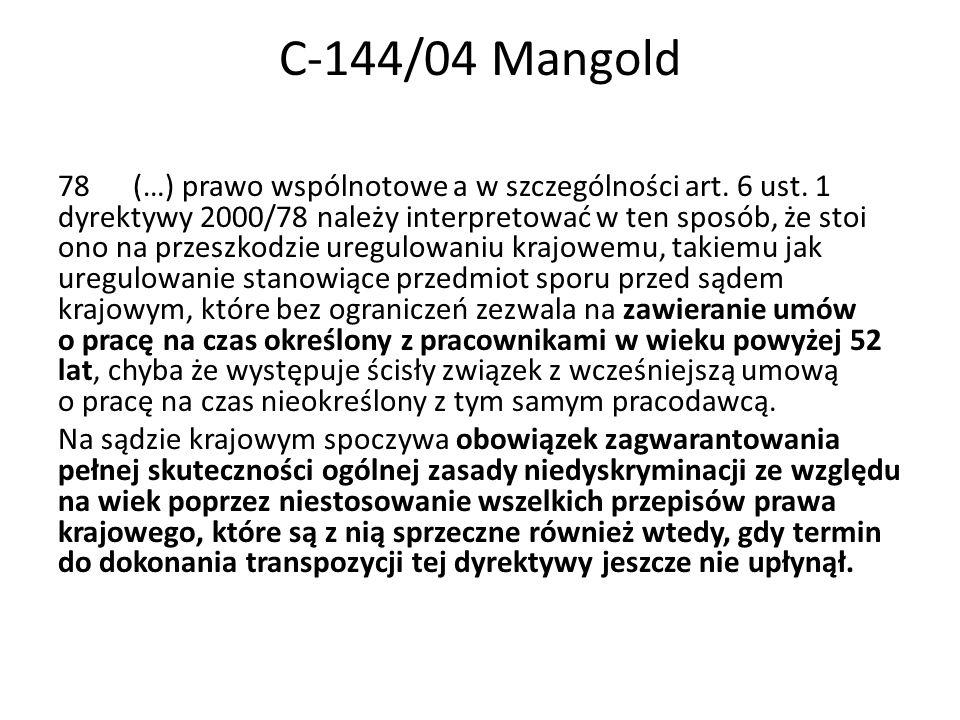 C-144/04 Mangold