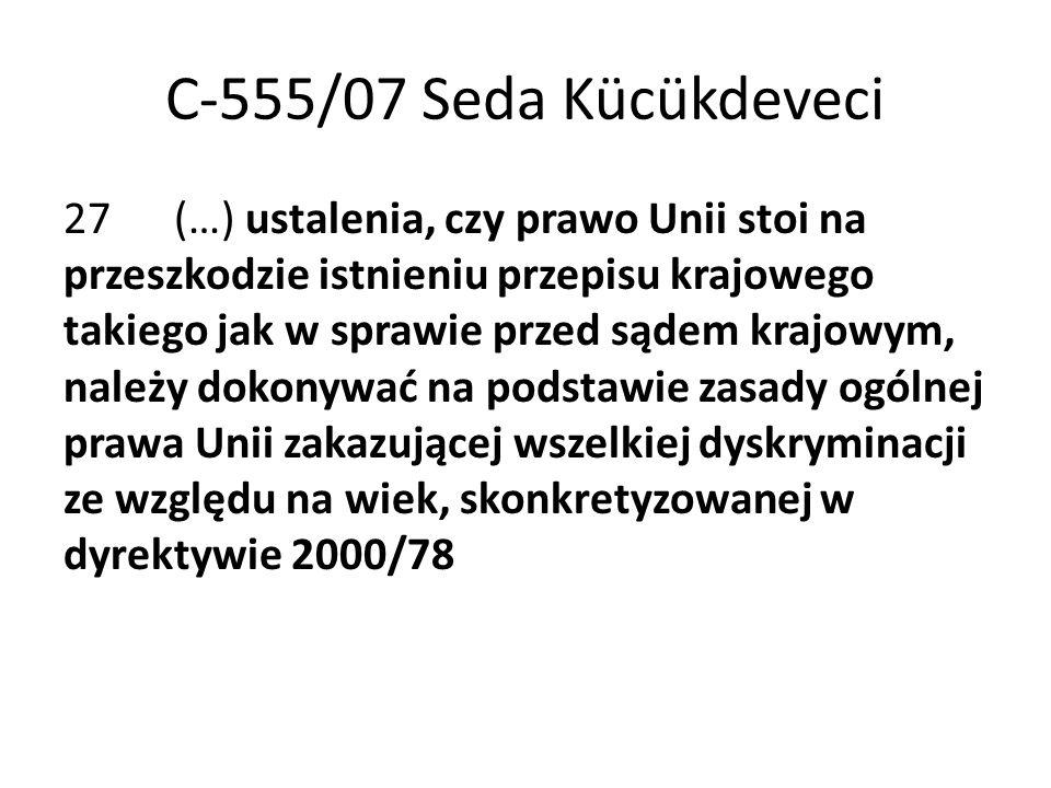 C-555/07 Seda Kücükdeveci