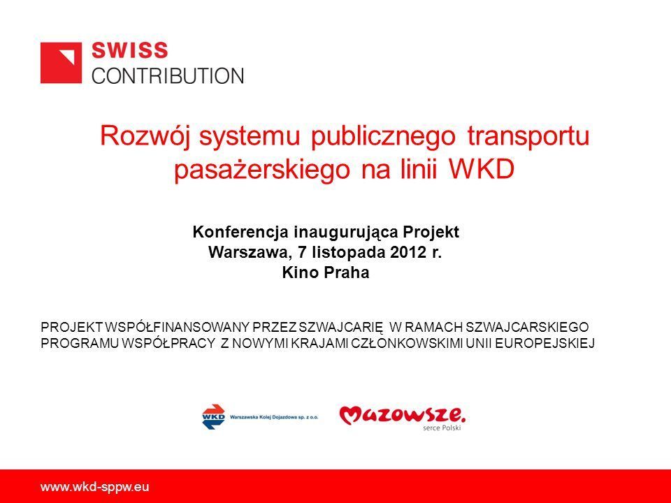 Rozwój systemu publicznego transportu pasażerskiego na linii WKD