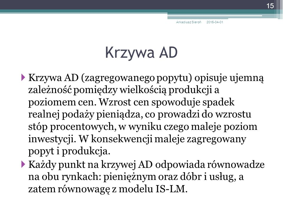 Arkadiusz Sieroń 2017-04-09. Krzywa AD.