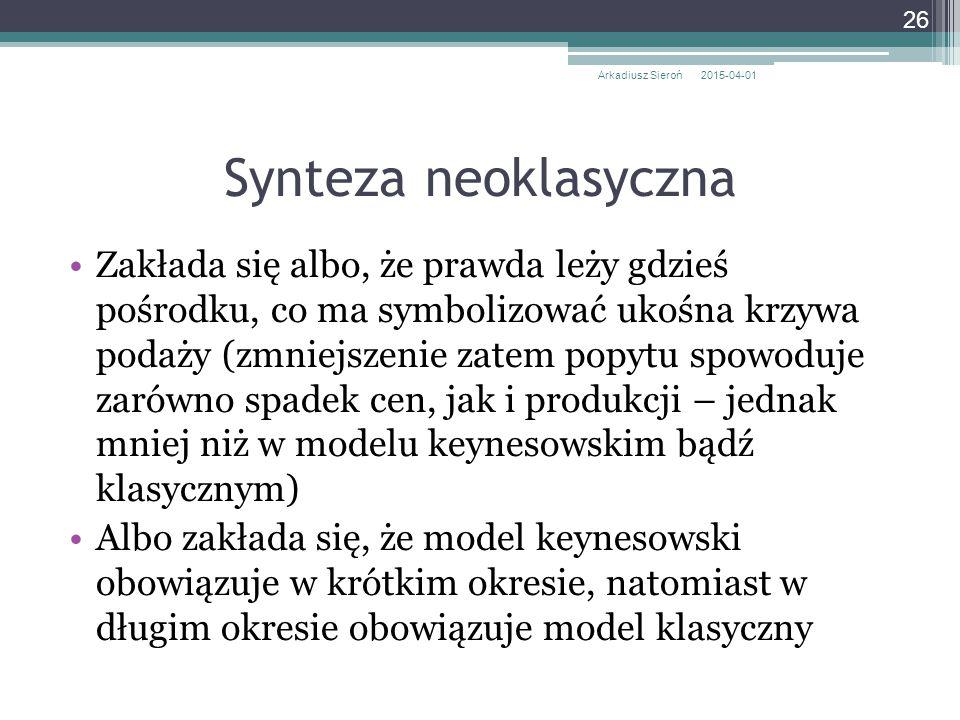 Arkadiusz Sieroń 2017-04-09. Synteza neoklasyczna.
