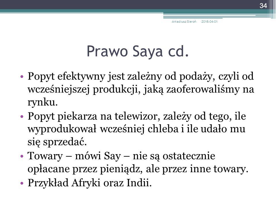 Arkadiusz Sieroń 2017-04-09. Prawo Saya cd.