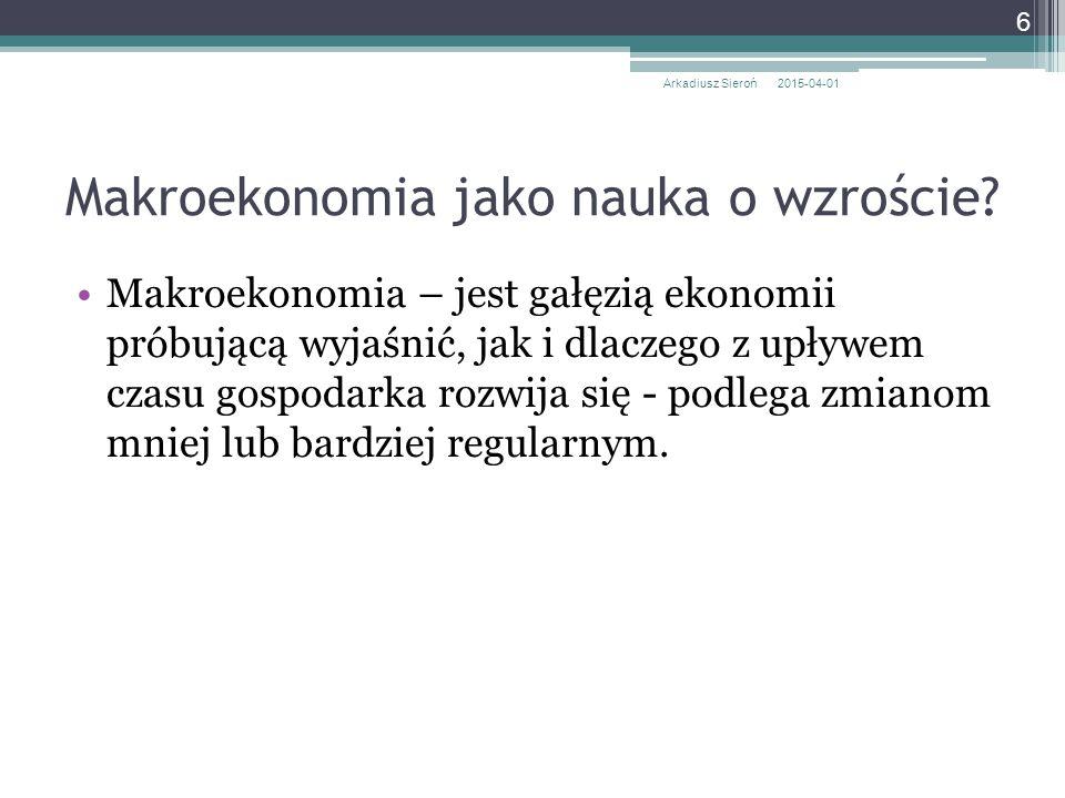 Makroekonomia jako nauka o wzroście
